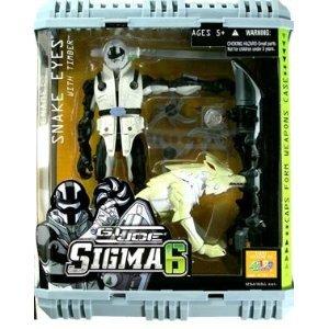 G.I. Joe: Sigma 6 > Snake-Eyes (White Timber) Action Figure (Gi Joe White Ninja compare prices)