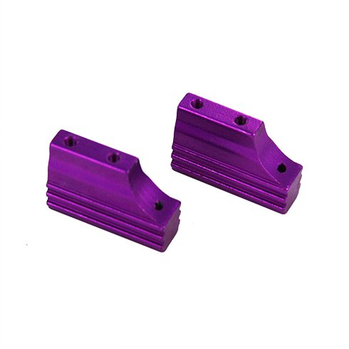 Redcat Racing Machined Aluminum Engine Mount for 102205 Vehicle (2 Piece), Purple