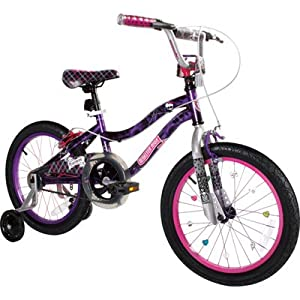 Monster High Girl's Bike, 18-Inch, Black/Purple/Pink