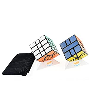 Magic Cube, Haip 3-Layer SQ-1, 4-Layer SQ-1 Speed Cube Magic Cube 5 PCS Set (Base Holders/Bag Included)