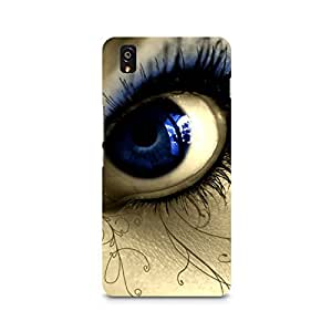 Mobicture Eyes Premium Designer Mobile Back Case Cover For OnePlus X