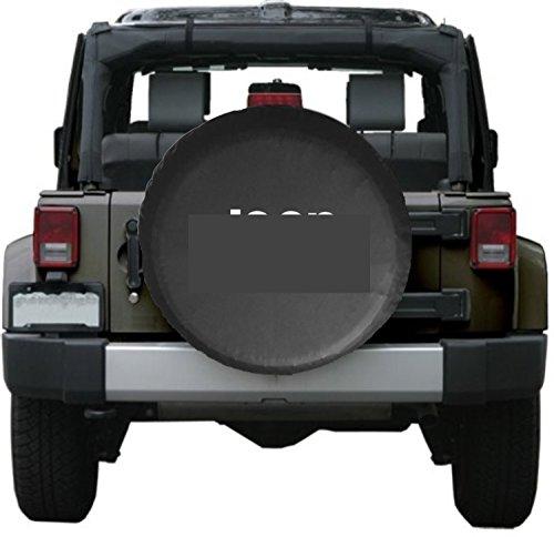 Moonet Jeep Spare Wheel Tire Cover White logo (R 16) (Pirates Jeep Tire Cover compare prices)