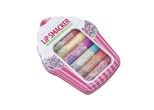Lip Smacker - Cupcake, Set di 6 balsami per le labbra aromatizzati
