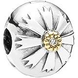 Pandora Damen-Bead Solaris 14 K Gold Zirkonia 925 Sterling Silber 790988CZ