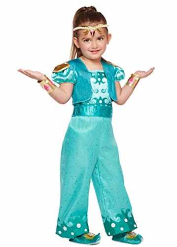 Nickelodeon Shimmer and Shine - Shine Costume - Toddler / Child (5T - 6T) (Nick Jr Halloween Costumes)