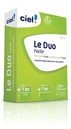Le Duo Facile Ciel 2013 (Ciel Compta Facile 2013 + Ciel Facturation Facile 2013) + 1 an d'assistance Online