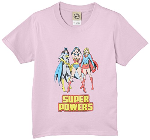 dc-comics-girls-super-powers-standing-short-sleeve-t-shirt-pink-azalea-size-9-11-years-manufacturer-