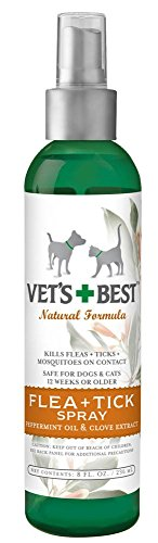 Vet's Best Natural FLEA + TICK Spray for Pets 8 oz
