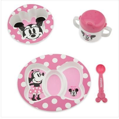 Disney Minnie Mouse Melamine Feeding Set for Baby Girl - 1