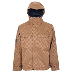 Buy Bonfire Cascade Snowboard Jacket Bark - Mens by Bonfire