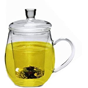 Sun's Tea 12oz Personal All Glass Made Tea Infuser & Mug (Teapot) $12.99
