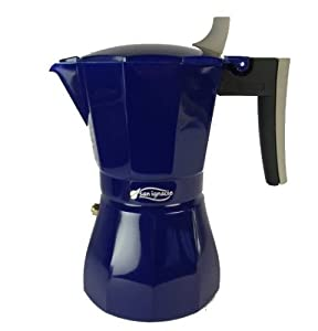 Blue Italian Coffee Maker : 6 Cup Italian Style Stove Top Stovetop Coffee Espresso Maker Moka Pot Blue Colour: Amazon.co.uk ...