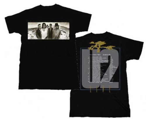 U2 - Uomo Joshua Tree T-Shirt In Nero, Large, Nero [Sports Apparel]