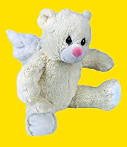 "Recordable 16"" Lullaby Angel Bear/ Baby Heartbeat Bear with 1 Minute Digital Recorder"