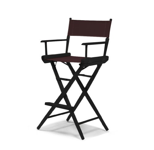 Telescope Casual World Famous Bar Height Director Chair, Brown with Black Frame