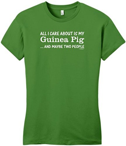 All I Care About Is My Guinea Pig & Maybe 2 People Juniors T-Shirt Large Kiwi Green