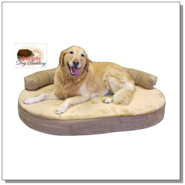Large Orthopedic Memory Foam Joint Relief Bolster Dog Bed - Toffee