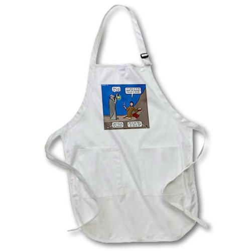 Apr_19615_4 Rich Diesslin The Cartoon Old Testament - Zephaniah 1 7 18 Battle Of Evermore Bible Stairway To Heaven Led Zeppelin - Aprons - Black Full Length Apron With Pockets 22W X 30L