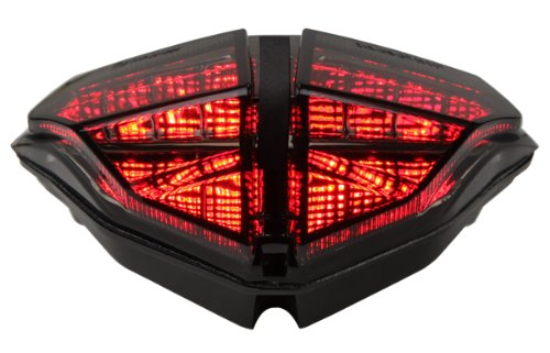 2007-2013 Ducati 848 1098 1198 Integrated Sequential Led Tail Lights Smoke Lens