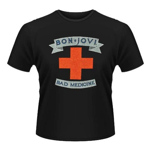 Official T Shirt BON JOVI Album BAD MEDICINE Cross