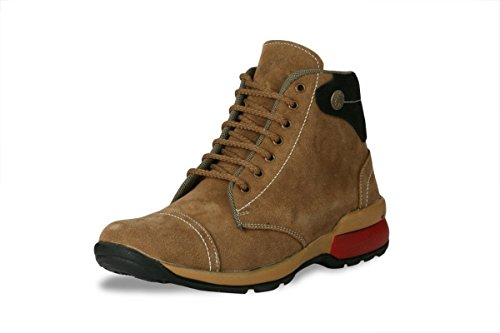 BACCA BUCCI MEN TAN GENUINE LEATHER BOOTS 09 UK  available at amazon for Rs.599
