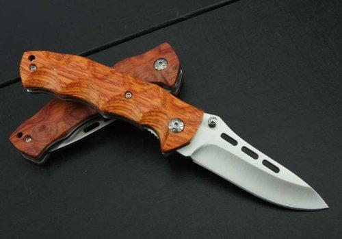 J.C.H. KT35 Rosewood Wooden Handle Pocket Folding Knife Limited Collection