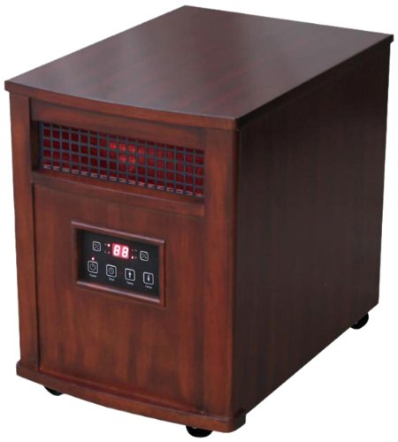 Comfort Glow, Qeh1501, Infrared Quartz Heater With Remote, Heritage Cherry Finish