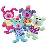 SingAMaJigs Series 2 Set of 4 Plush Doll Figures Mint Green, Purple V.2, Hot Pink V.2 Light Blue