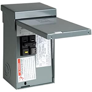 Square d by schneider electric home250spa homeline 50 amp for Bathroom 20 amp circuit