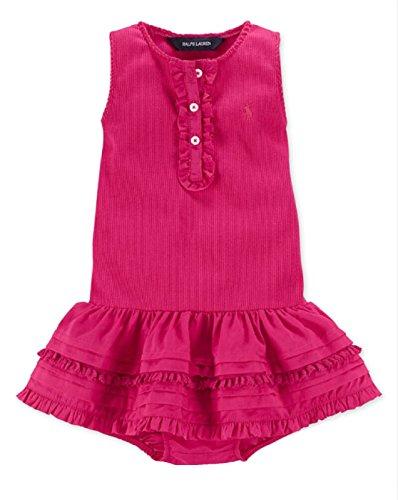 Ralph Lauren Baby Girls' Tank Dress (9 Months, Pink)