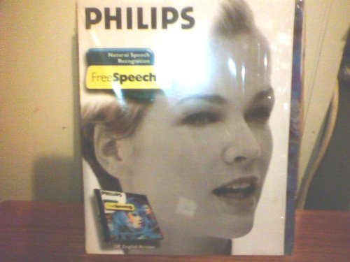 FREE SPEECH  BY PHILIPS SPEECH RECOGNITION SOFTWARE PC CD ROM WINDOWS 95/98