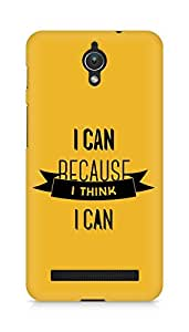 Amez I Can because I Think Back Cover For Asus Zenfone C ZC451CG