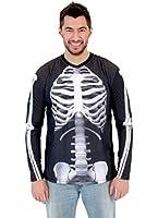 White Skeleton Adult Long Sleeve Costume T-Shirt