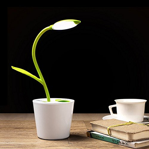 Table lamp , led desk lamp with usb charging port, reading lamps daylight table lamp with usb - three levels of brightness