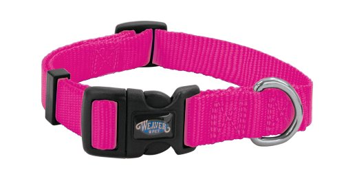 Weaver Leather Prism Snap-N-Go Collar, Large, Hot Pink (Dog Leash Hot Pink compare prices)