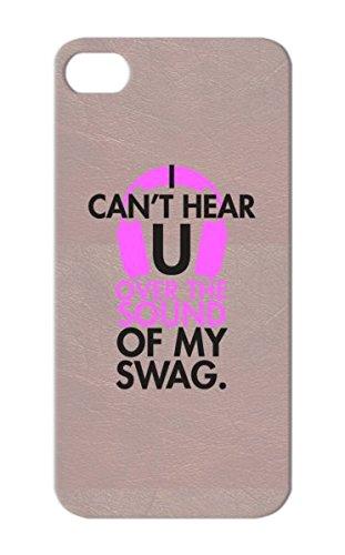 Tpu Music Swag Radio Studio Art Design Illustration Girl Headphones Popular Pop Sound Pink For Iphone 5S Purple Shock Absorption Case