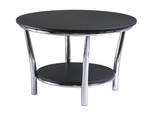 Maya Round Coffee Table, Black Top, Metal Legs Maya Round Coffee Table, Black Top, Metal Legs