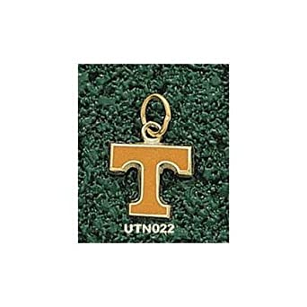 Tennessee Volunteers Enamel Power T 3 8 Charm - 14KT Gold Jewelry by Logo Art