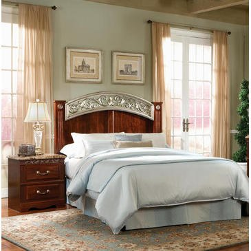 Standard Furniture Triomphe 2 Piece Panel Bedroom Set in Cherry