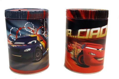 Disney Pixar Cars 2 Movie Round Tin Coin Bank - 1 Pack