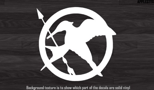 Vinyl Decal - Hunger Games Logo White