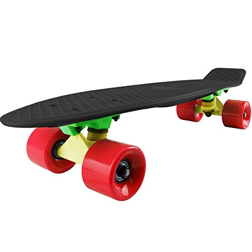 Why Choose Cal 7 Mini Cruiser Skateboard Complete 22 Inch Standard Retro Style Plastic Board