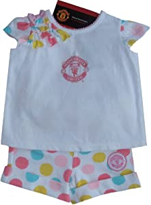 Brecrest Manchester United Man608 - Conjunto de ropa con manga corta para niñas
