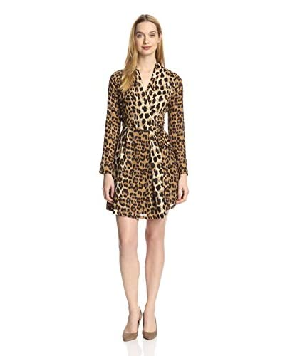 Romeo & Juliet Couture Women's Leopard Print Wrap Dress
