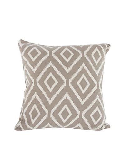 A&B Home Cotton Polo Pillow, Brown