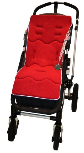 Tivoli Couture Classic Memory Foam Stroller Liner, Ruby Red front-829699