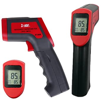 HDE Non-Contact Infrared IR Temperature Gun Digital Thermometer with Laser Sight Targeting