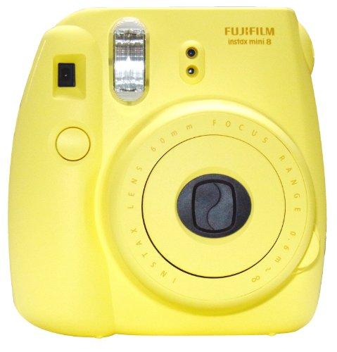 New Model Fuji Instax 8 - Yellow - Fujifilm Instax Mini 8 Instant Camera Polaroid Type Black Friday & Cyber Monday 2014