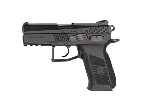 ASG Licensed CZ 75 P-07 Duty CO2 .177 BB Air Pistol - Black asg магазин для hi capa пружинный 16532