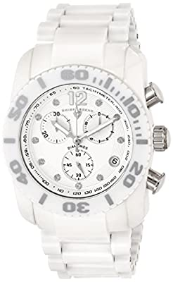 Swiss Legend Men's 10127-WSD Chronograph Diamond-Accented White Ceramic Watch